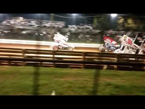 Williams Grove Speedway, Mechanicsburg Pennsylvania, 4 Wide Salute,