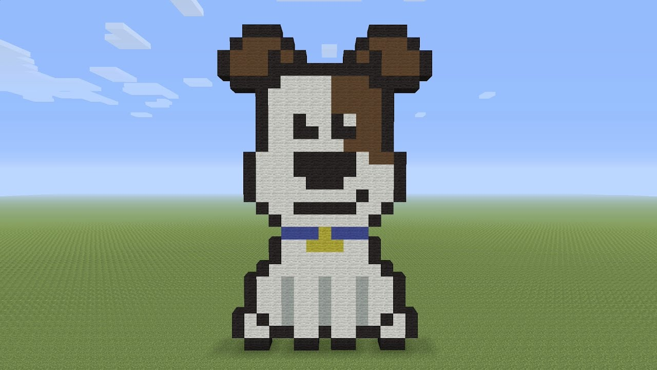 Minecraft Pixel Art Max From The Secret Life Of Pets