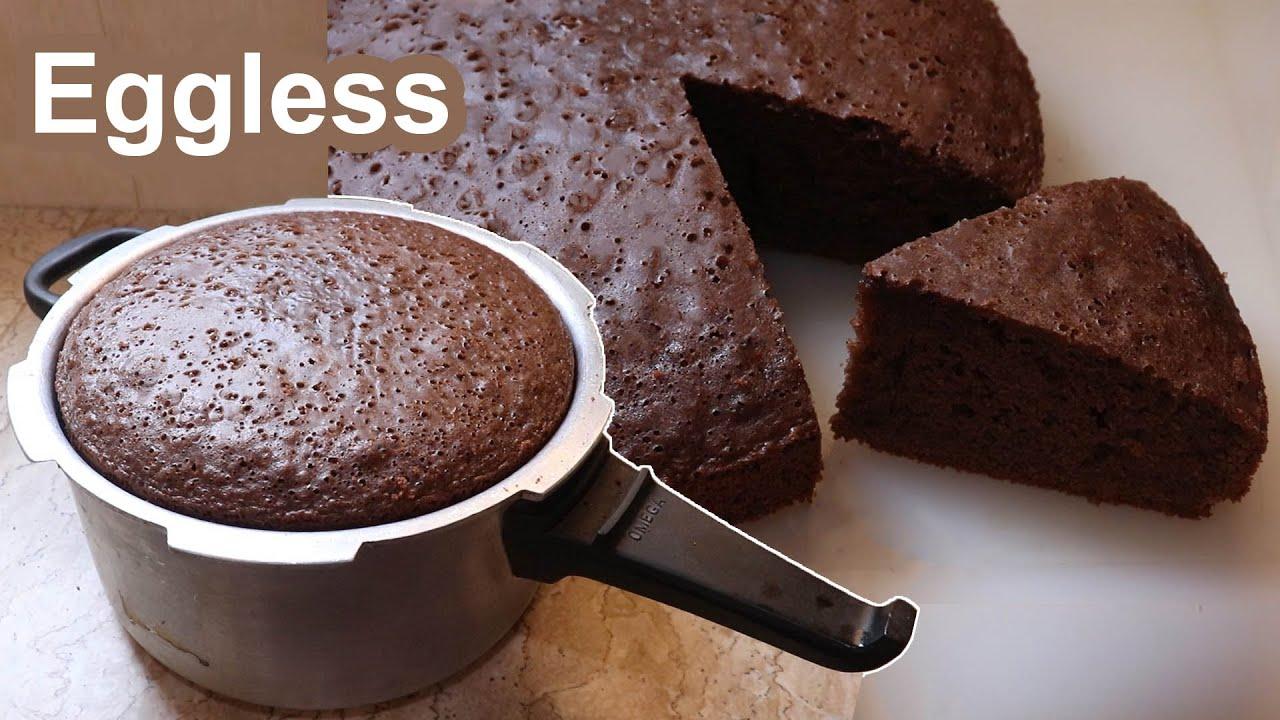 Chocolate Sponge Cake in Pressure Cooker   Basic Sponge Cake Recipe   Chocolate Cake Without Oven