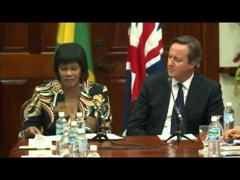 David Cameron faces slavery reparation calls in Jamaica