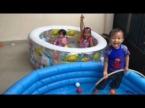 Main Di Mini Pool Bola Warna Warni Sambil Belajar Bahasa JEPANG | Mainan Anak Zara Cute