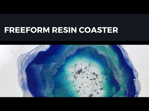 Freeform Resin Coaster | Hot Glue Gun mold