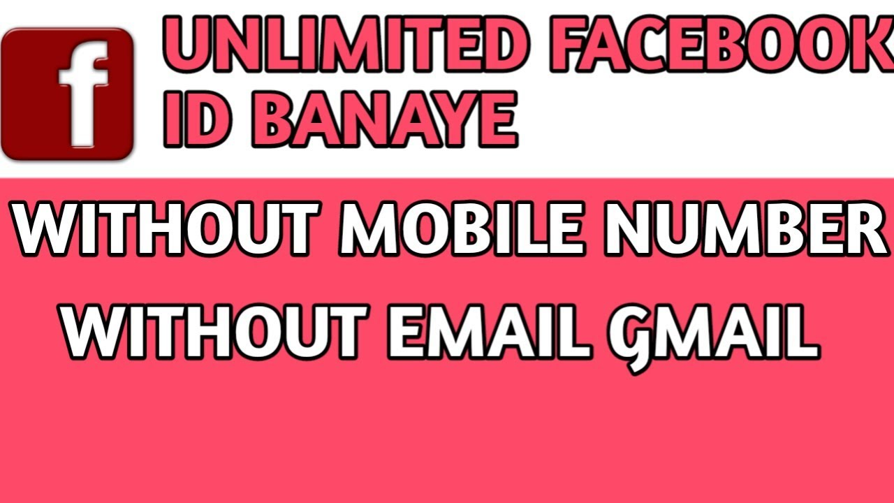 How to create facebook id with mobile number