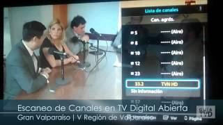 Canales HD en TV Digital Abierta, Gran Valparaíso | Dic 2014