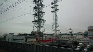 《車窓》東海道新幹線 700系のぞみ155号 三河安城通過前~名古屋