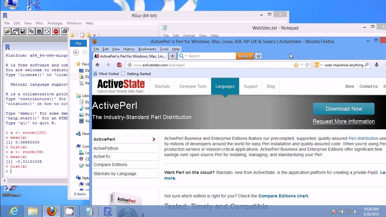 StartR 01-Install R for Windows and ActivePerl