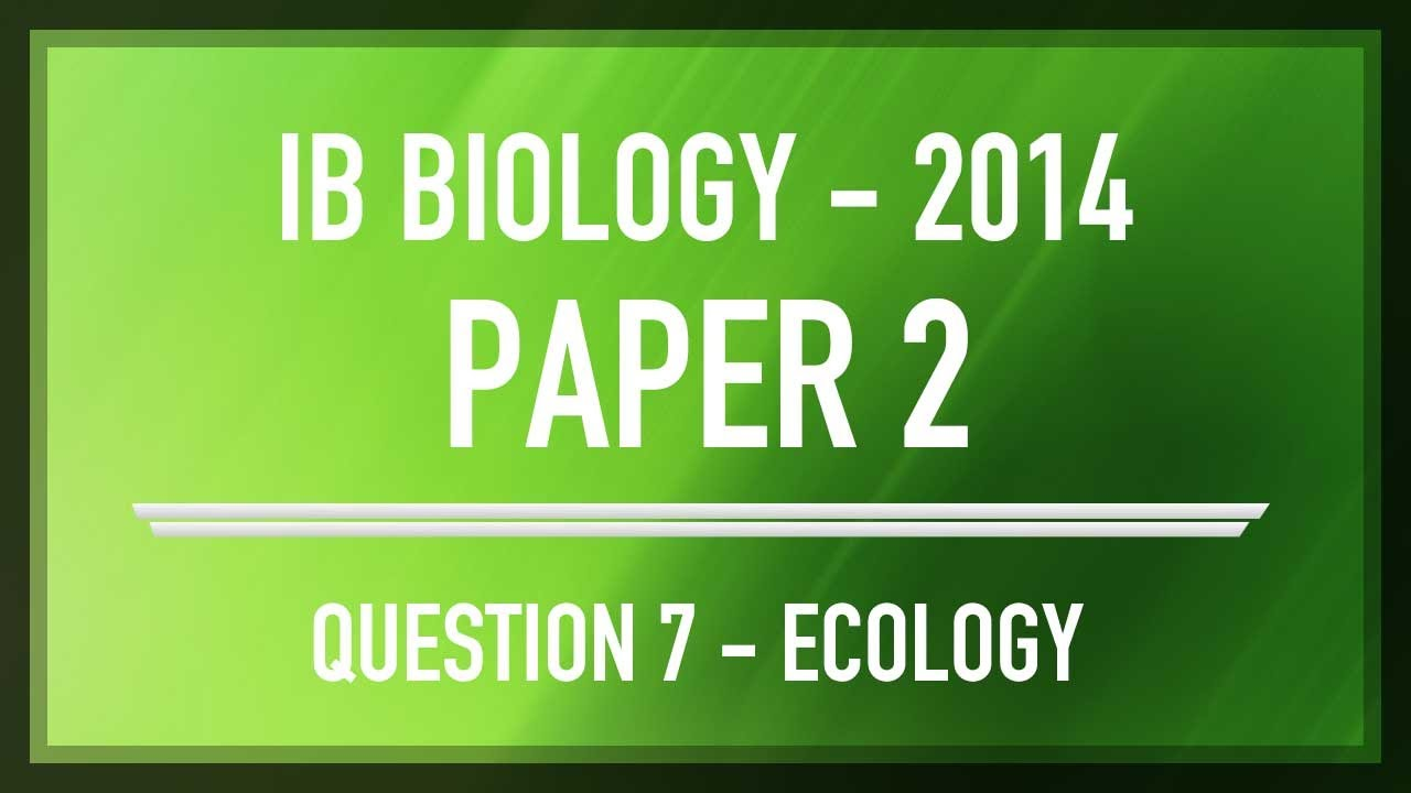 ib biology ecology exam questions