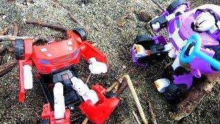 Тоботы - Трансформеры и Тигруля. Загадка острова. Видео с игрушками