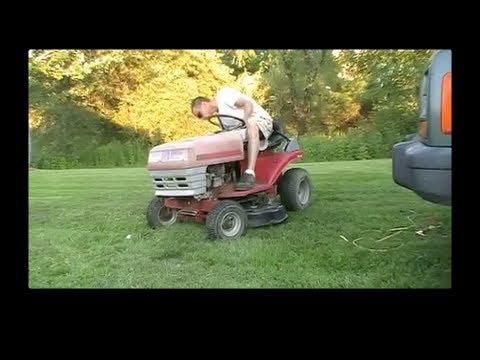 Riding Lawn Mower Deck Swap