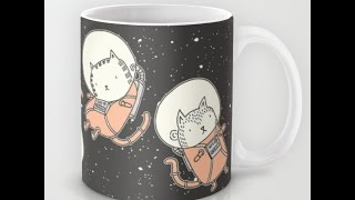 Обзор чашки Коты в космосе. Rishamyasovshop