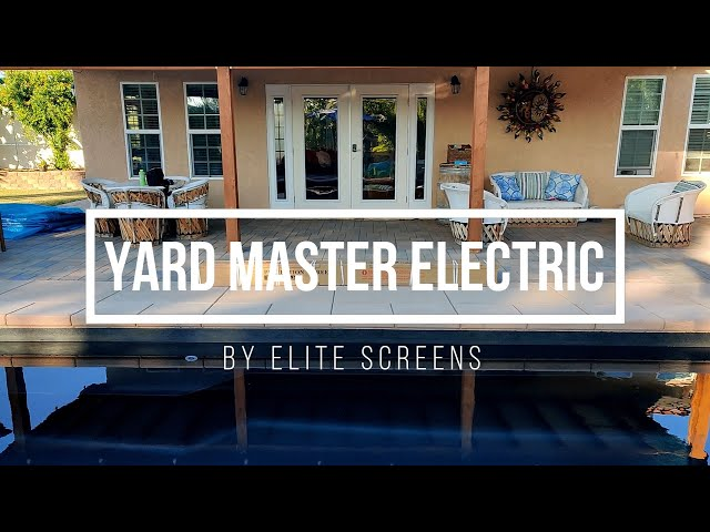 Elite Screens Yard Master Electric Tension Outdoor Projection Screen Product Review by JoelsterG4K