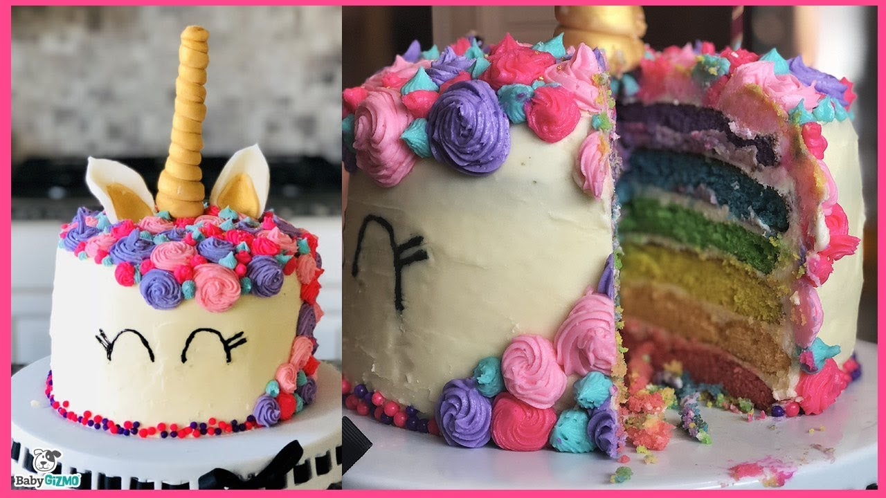 How To Make A Rainbow Unicorn Cake Youtube