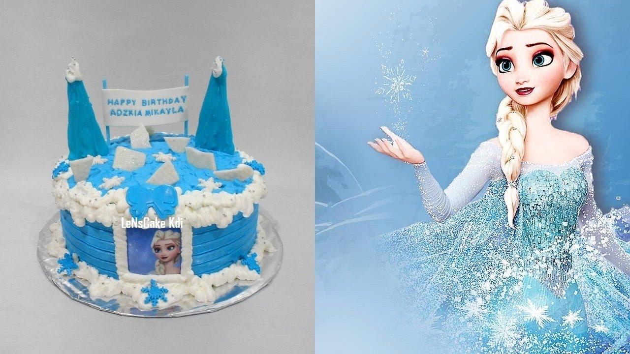Frozen Cake Decor Uk : Frozen Cake Decorating Simple - YouTube
