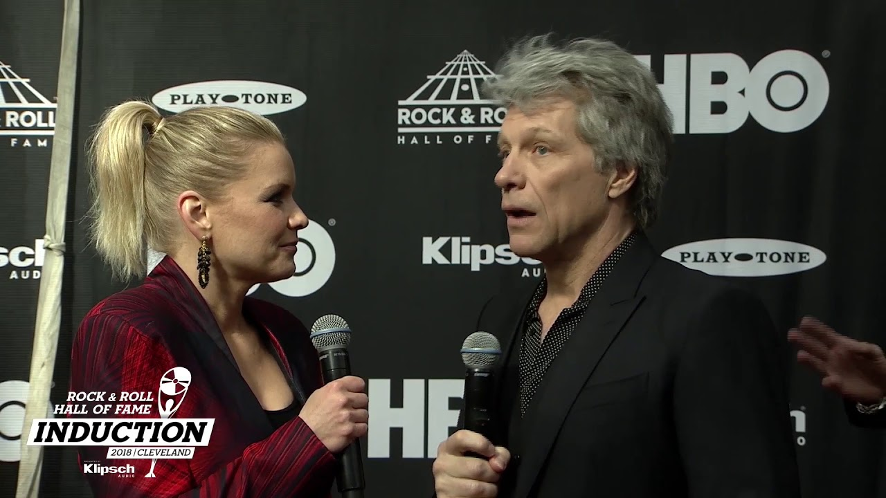 Jon Bon Jovi on the 2018 Rock & Roll Hall of Fame Induction Ceremony Red  Carpet