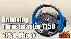 Unboxing Thrustmaster T150 + PS4-Check [Playstation 4 Lenkrad, deutsch] (Test / Review)