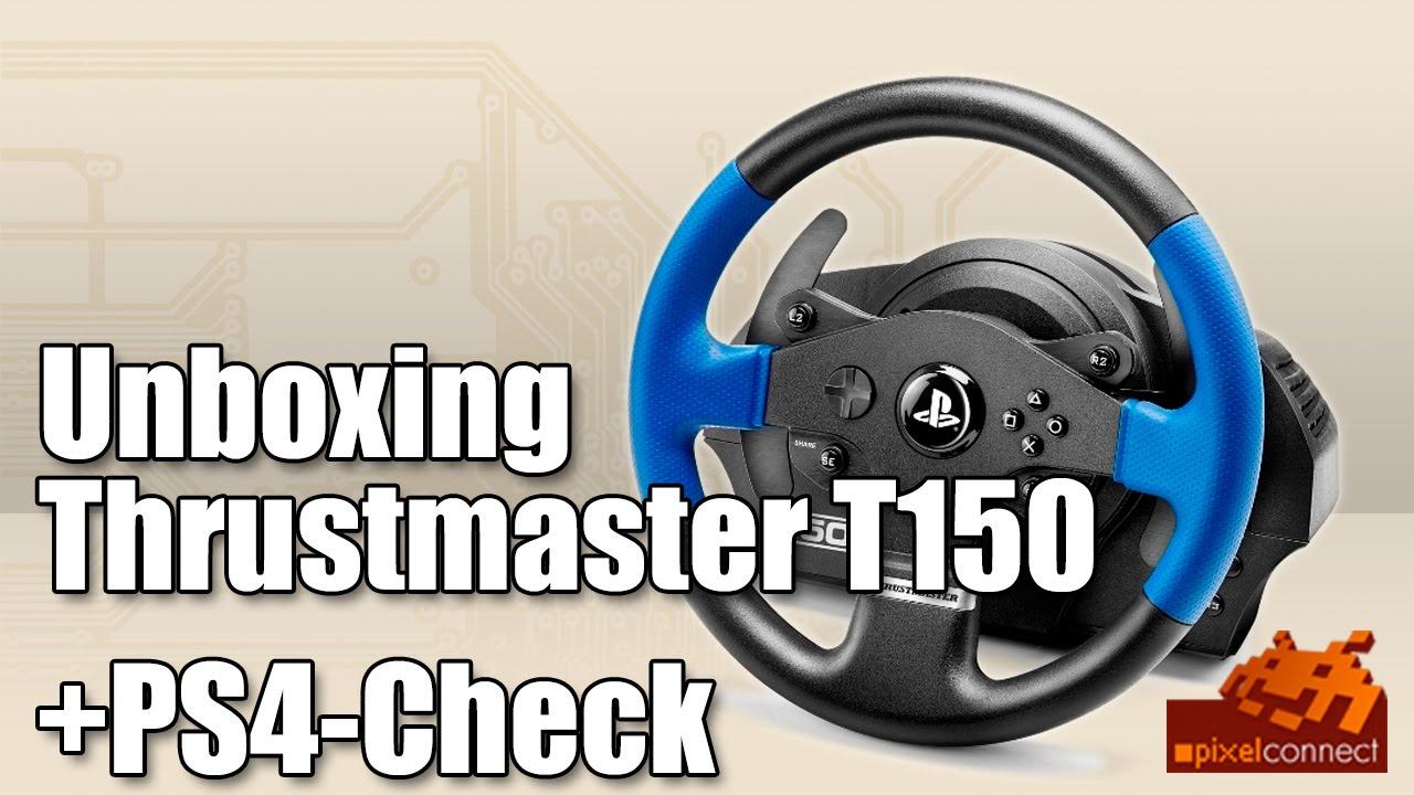 unboxing thrustmaster t150 ps4 check playstation 4 lenkrad deutsch youtube. Black Bedroom Furniture Sets. Home Design Ideas