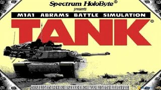 Tank: The M1A1 Abrams Battle Tank Simulation gameplay (PC Game, 1989)