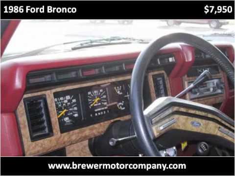 1986 ford bronco used cars pulaski tn youtube for Bryan motors pulaski tn