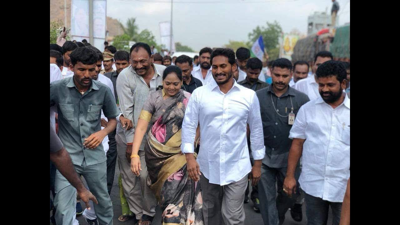 Image result for ys jagan and sucharita
