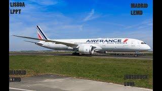 AirFrance -B787-9 Vuelo con Escala  Lisboa-Madrid-Madrid-Innsbruck-LPPT-LEMD-LEMD-LOWI
