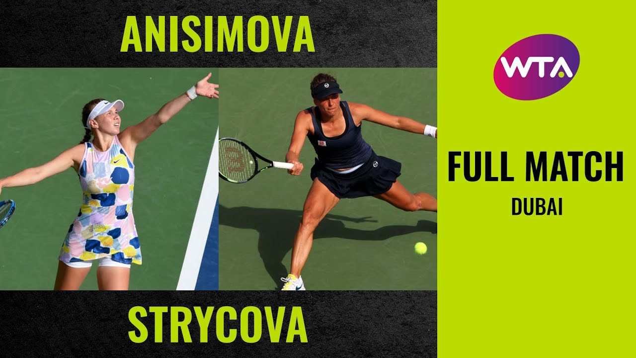 Amanda Anisimova vs. Barbora Strycova | Full Match | 2020 Dubai Round of 32