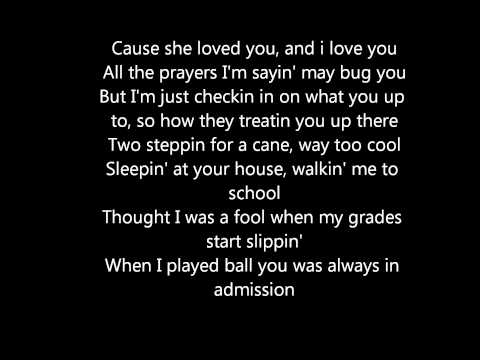 Mac Miller Poppy with lyrics on screen blue slide park kids