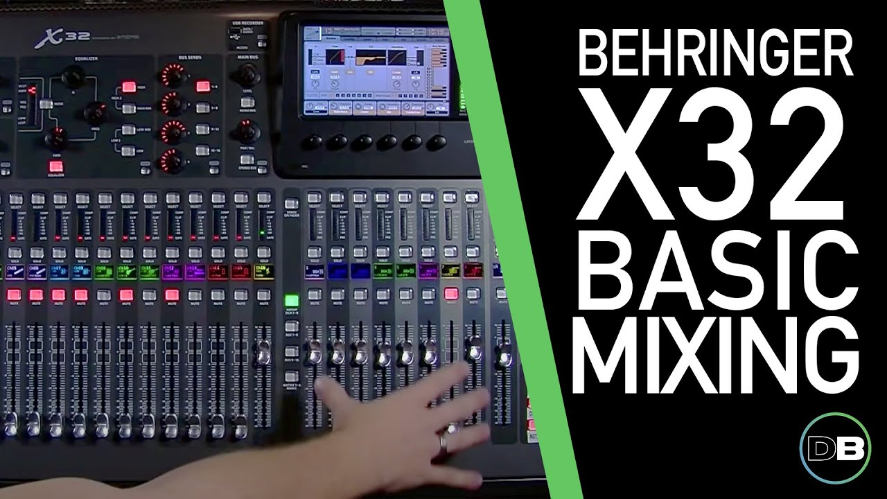 behringer x32 basic mixing 101 1 intro layout youtube. Black Bedroom Furniture Sets. Home Design Ideas