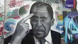 В Москве появились граффити с Лавровым