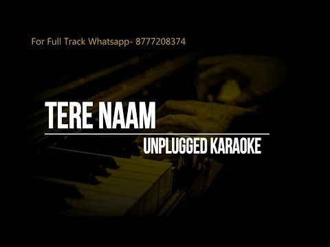 Tere Naam Unplugged Karaoke | Salman Khan