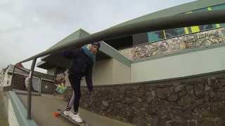 Lekker met Jasmijn aan het skaten op de boulevard!