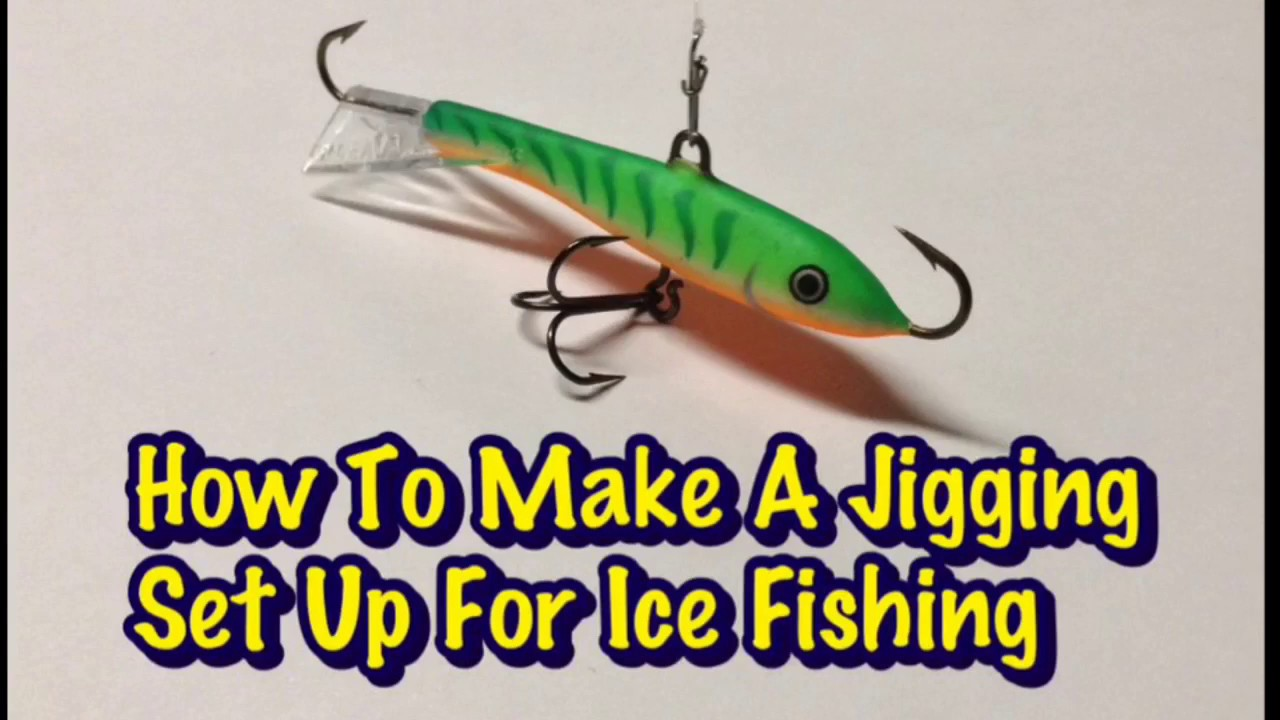 How to make a jigging set up for ice fishing youtube for How to ice fish