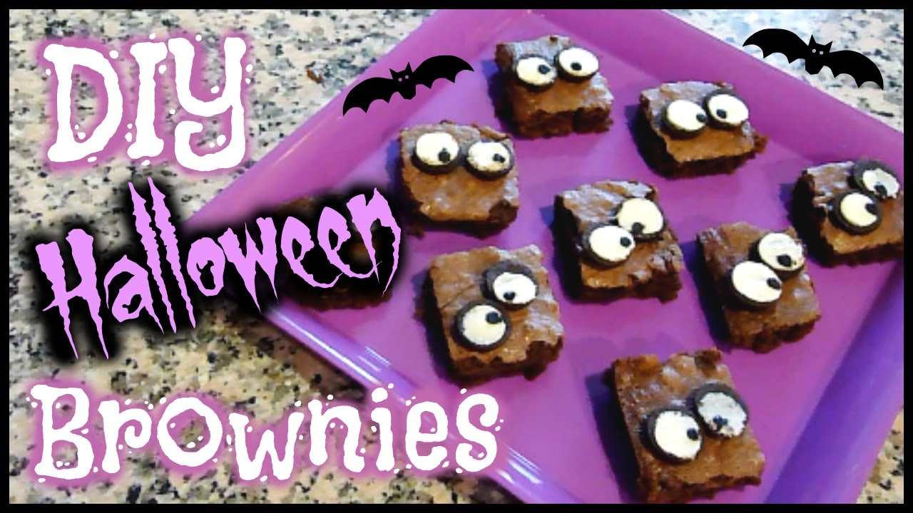 diy halloween ghost eyes brownies homemade halloween treats