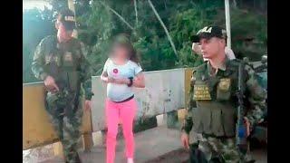 Niña ecuatoriana que estaba secuestrada fue rescatada por el Ejército de Colombia   Noticias Caracol