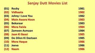Sanjay Dutt Movies List Youtube