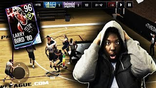 96 OVR MOBILE MADNESS RIVAL LARRY BIRD GAMEPLAY!!! NBA LIVE MOBILE 18