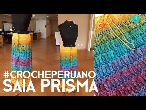 Saia Prisma Em Crochê Peruano - Henrique Silva TV