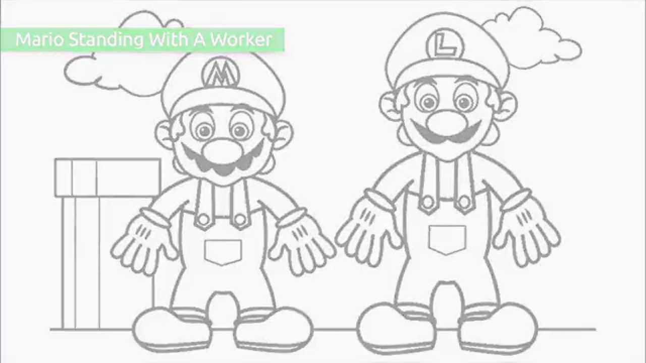 top 20 free printable super mario coloring pages youtube