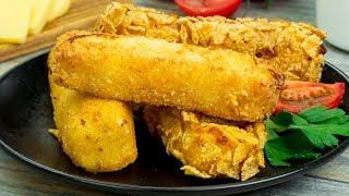 За считанные минуты! Чудесные, горячие сырные крокеты в роли идеальной закуски!   Appetitno.TV