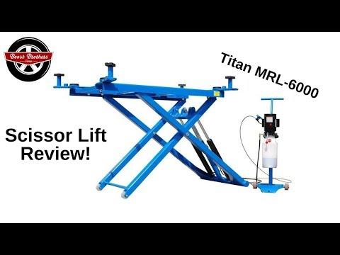 Scissor Lift Review! (Titan MRL-6000 Mid Rise Car Lift)