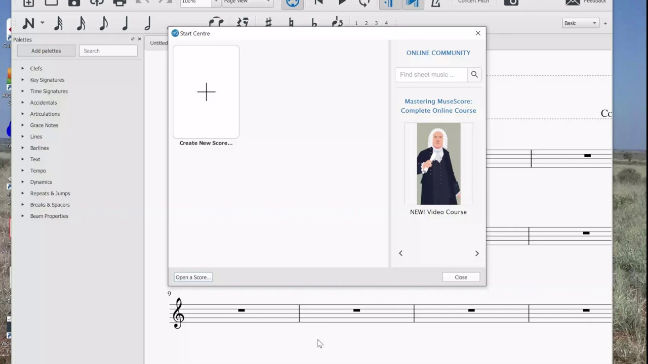 Musescore for beginner video 1