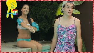 Pool Party Fails with Andrea Russett and Noland Ammon