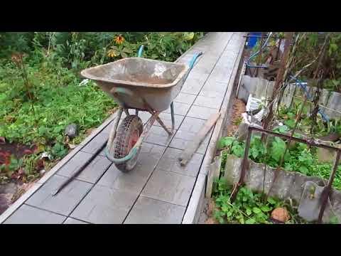 Укладка плитки в саду своими руками видео