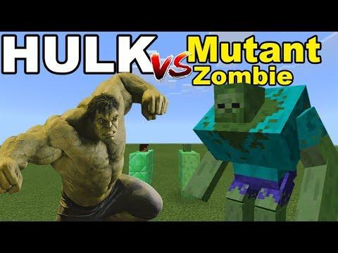 HULK vs MUTANT ZOMBIE | Minecraft PE