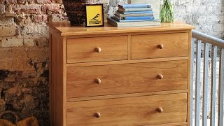 Georgian Oak 2+3 Chest Of Drawers - Pinesolutions