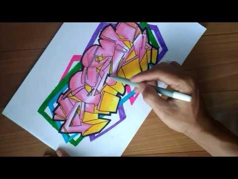 """Membuat sketsa graffiti """"ACEH"""""""