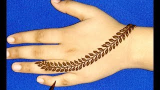 New Stylish Mehndi Design for Hand || Easy Mehndi Design for Beginners || Mehndi Designs