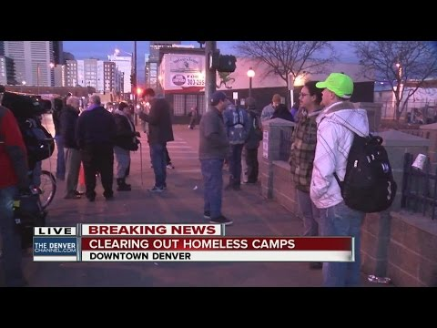 Protesters rally before sunrise against plan to clear homeless camps in Denver