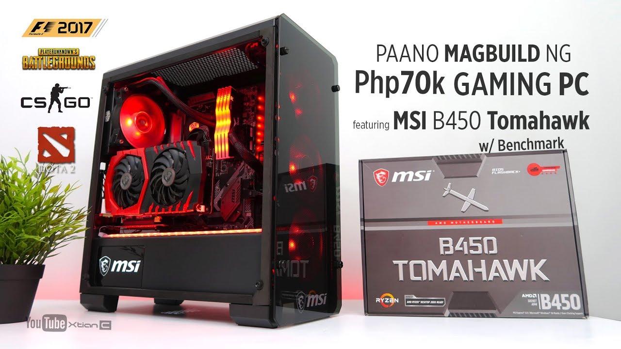 VLOG: Paano magbuild ng Php70k Gaming PC feat  MSI B450 Tomahawk w/  Benchmark [Step by Step]
