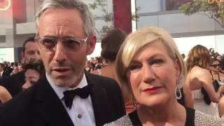 Michel Gill and Jayne Atkinson ('House of Cards') on 2016 Emmys red carpet