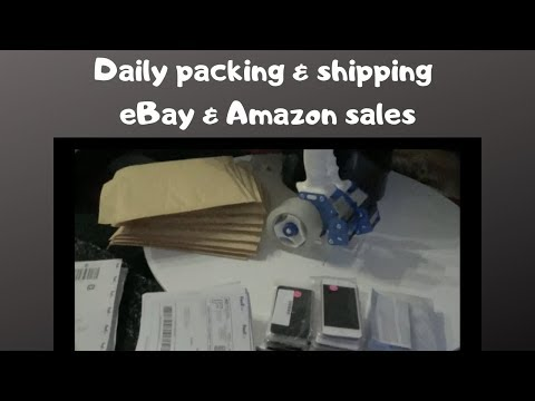 Daily Packing & shipping Ebay & Amazon Packages. & Katie Leaves Town.